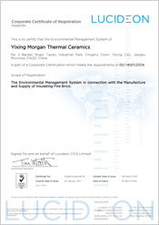 Yixing Morgan Thermal Ceramics - China